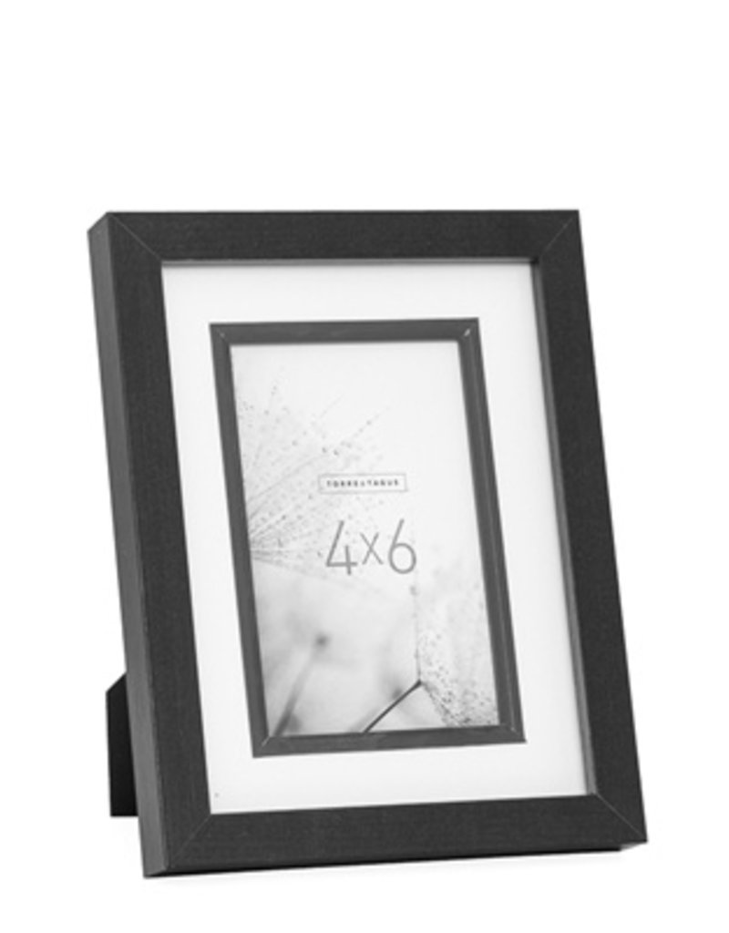 Torre & Tagus Beckett Black Veneer Frame, 4x6