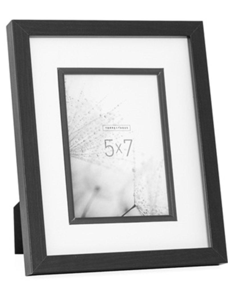 Torre & Tagus Beckett Black Veneer Frame, 5x7