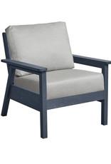 CR Plastics Tofino Chair, Slate, Incl Cushions (CRP)