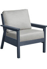 CR Plastics Tofino Chair, Slate, Incl Cushions