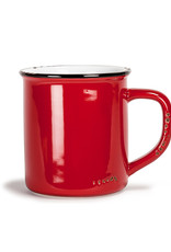 Abbott Red Enamel Mug