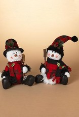 Tri W Imports Plush Sitting Snowman (Tri)