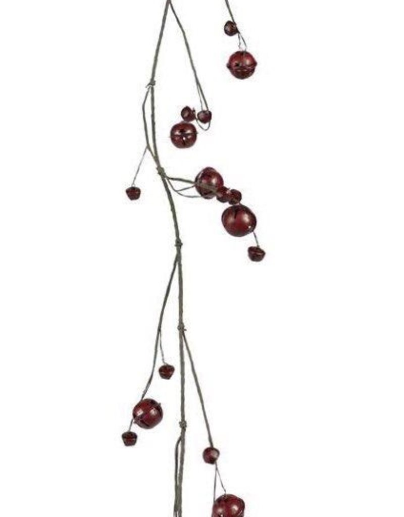 Tri W Imports Red Jingle Bell Garland