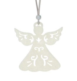 Abbott Ivory Cutout Ornament - Angel