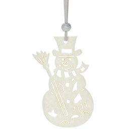 Abbott Ivory Cutout Ornament - Snowman