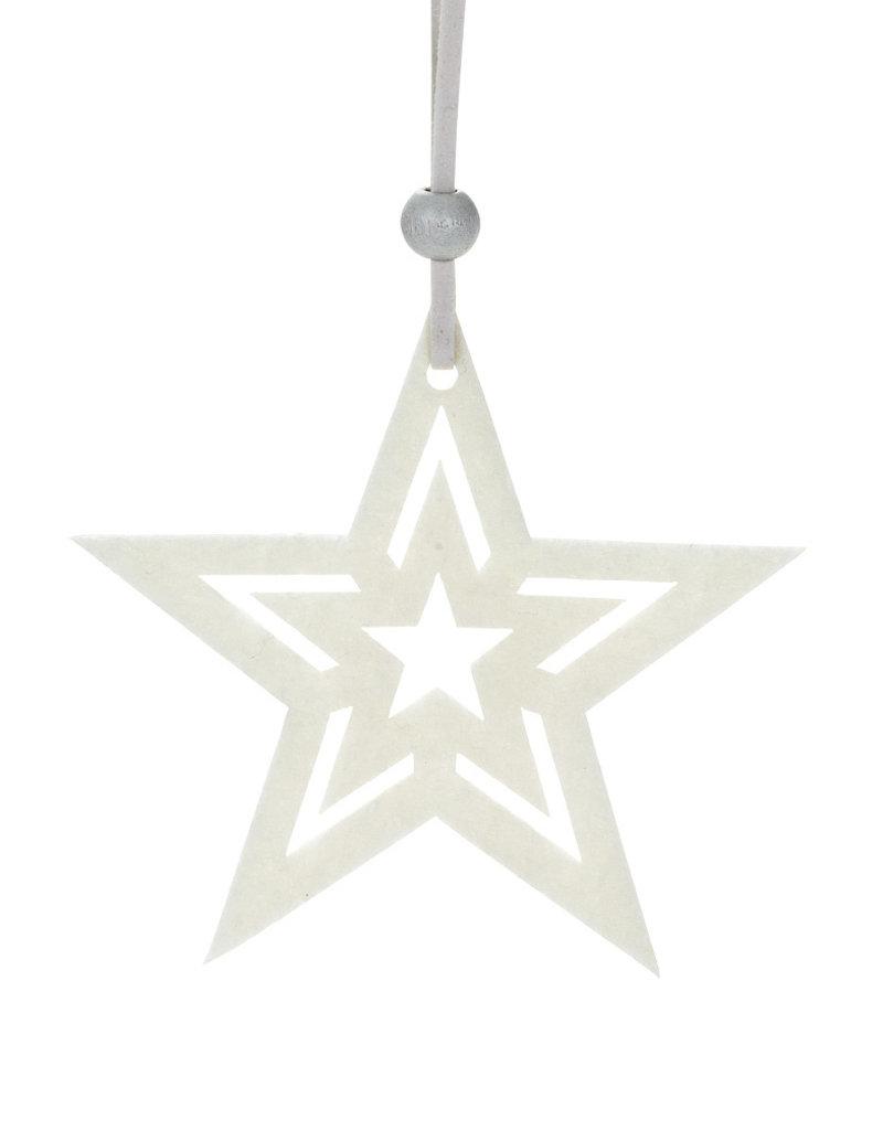 Abbott Ivory Cutout Ornament - Star