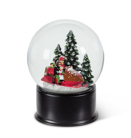 Abbott Snow Globe - Family Snowmobile