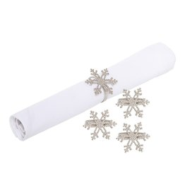 C&F Enterprises Icy Snowflake Napkin Ring S/4