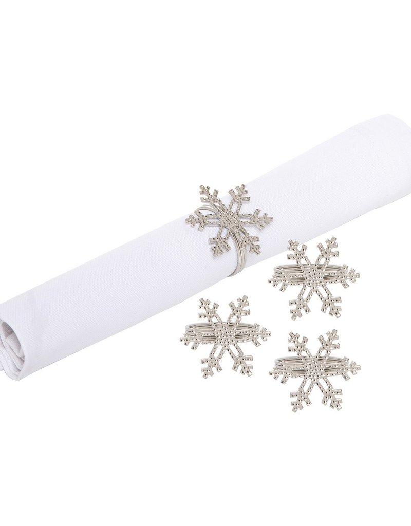 C&F Enterprises Icy Snowflake Napkin Ring S/4