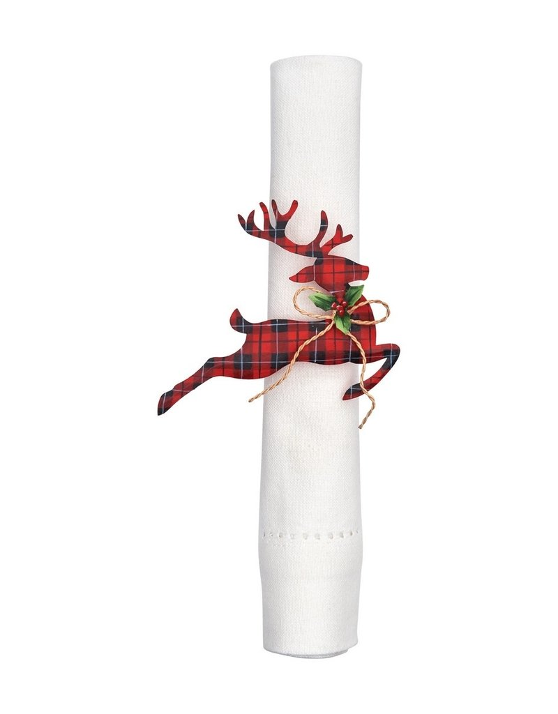 C&F Enterprises Tin Reindeer Napkin Ring