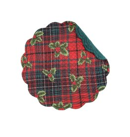 C&F Enterprises Nicholas Plaid Round Placemat