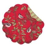 Chickadee Red Round Placemat