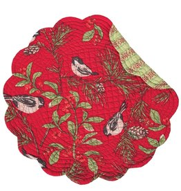 C&F Enterprises Chickadee Red Round Placemat