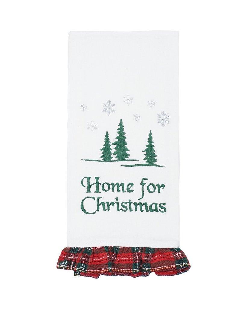 C&F Enterprises Home for Christmas Tea Towel