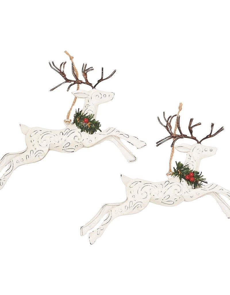 C&F Enterprises Tin Leaping Deer Ornament