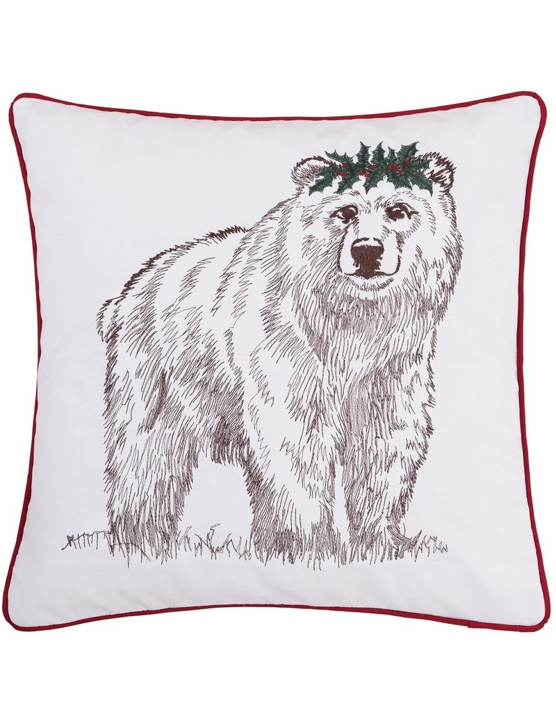 C&F Enterprises Toss Pillow - Holly Bear