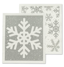 Abbott S/2 Snowflake Swedish Dish Cloths