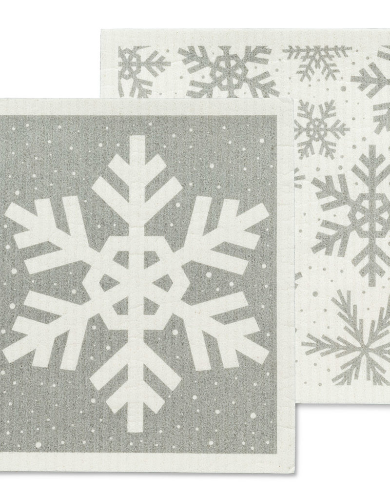 Abbott S/2 Snowflake Swedish Dish Cloths