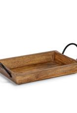 Abbott Rectangle Tray with Handles, Medium