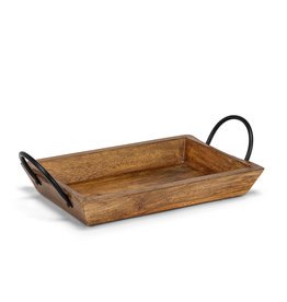 Abbott Rectangle Tray with Handles, Medium