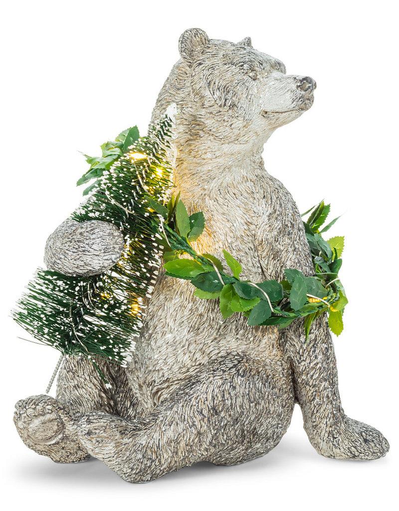 Abbott Bear with Tree and LED  Wreath (Abb)