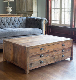 Park Hill Map Drawer Coffee Table