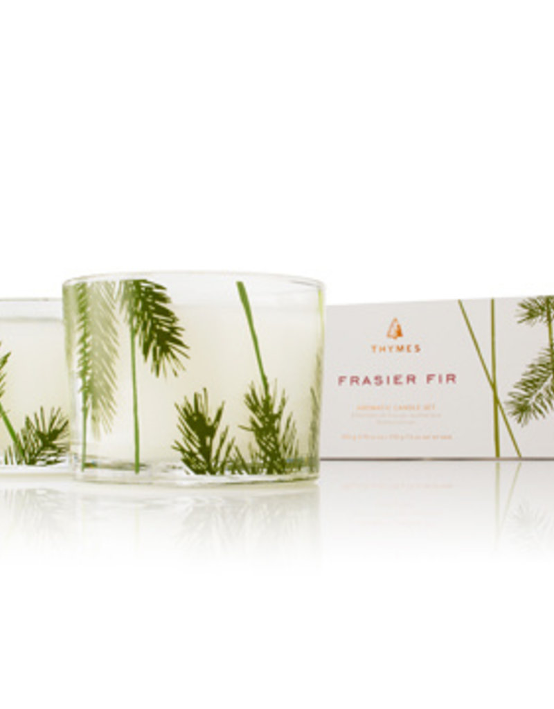 Thymes Frasier Fir Collection - Pine Needle Candle Set