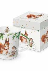 PPD Squirrel & Robin Mug Gift Box