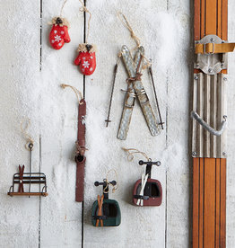 Harman Rustic Metal Ski Ornament