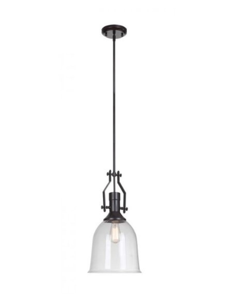 Craft Made Glass Shade Pendant - Oil Rubbed Bronze