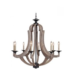 Craft Made Winton 8-Light Chandelier - Weathered Pine