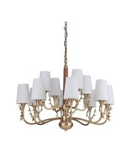 Craft Made Churchill 12-Light Chandelier - Vintage Brass
