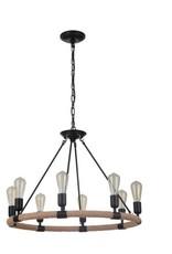Craft Made Dillon 8-Light Chandelier - Flat Black