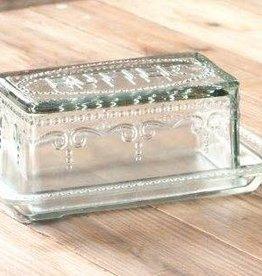 Park Hill Glass Butter Dish