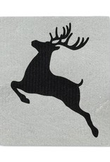 Abbott S/2 Noel Reindeer Swedish Dish Cloths (Abb)