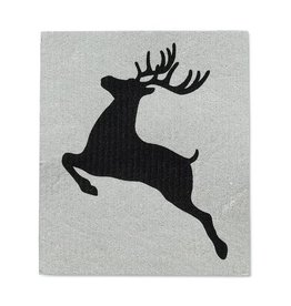 Abbott S/2 Noel Reindeer Swedish Dish Cloths (Abb)