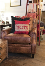 Mudpie Red Jingle Wrapped Pillow