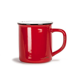 Abbott Red Enamel Mug