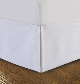 Brunelli White Pasta Bed Skirt- Twin