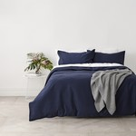 Cuddle Down Marine Waffle Duvet Cover - Twin