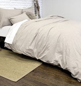 Alamode Home Parker Taupe Duvet Set - Queen