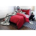 Alamode Home Soho Twill Red Duvet Set - Queen