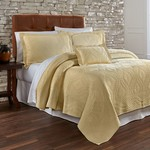 Traditions Linens Suzi Maize Coverlet - King