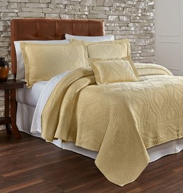 Traditions Linens Suzi Maize Coverlet - Queen