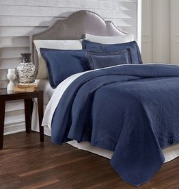 Traditions Linens Suzi Navy Coverlet - Queen