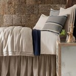 Pleaded Linen Natural Bed Skirt - Twin