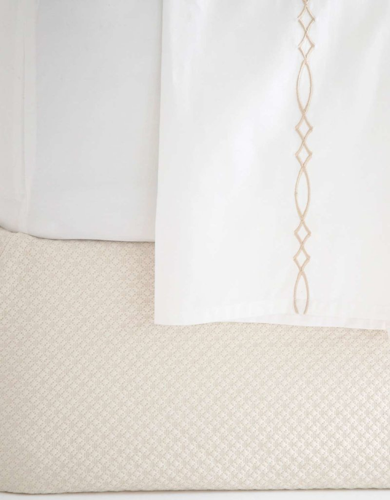 Pine Cone Hill Petite Trellis Ivory Box Spring Cover - King