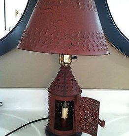 Lt. Moses Red metal table lamp