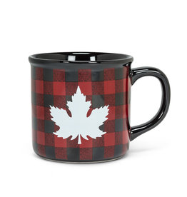 Abbott Maple Leaf Check Mug