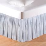C&F Enterprises Sea Blue Ticking Bed Skirt - King